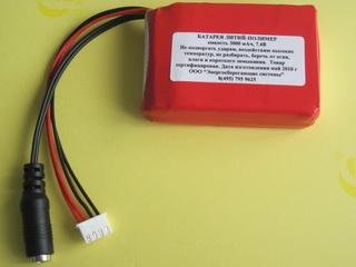 Образец батареи сделанной под заказ